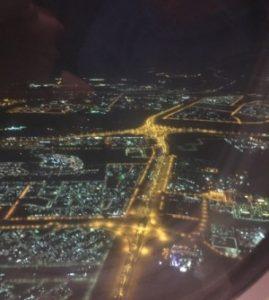 Landeanflug in Abu Dhabi
