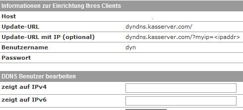 Benutzername, IPv4, IPv6