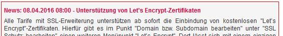 SSL-Zertifikate von Let's Encrypt bei all-inkl.com