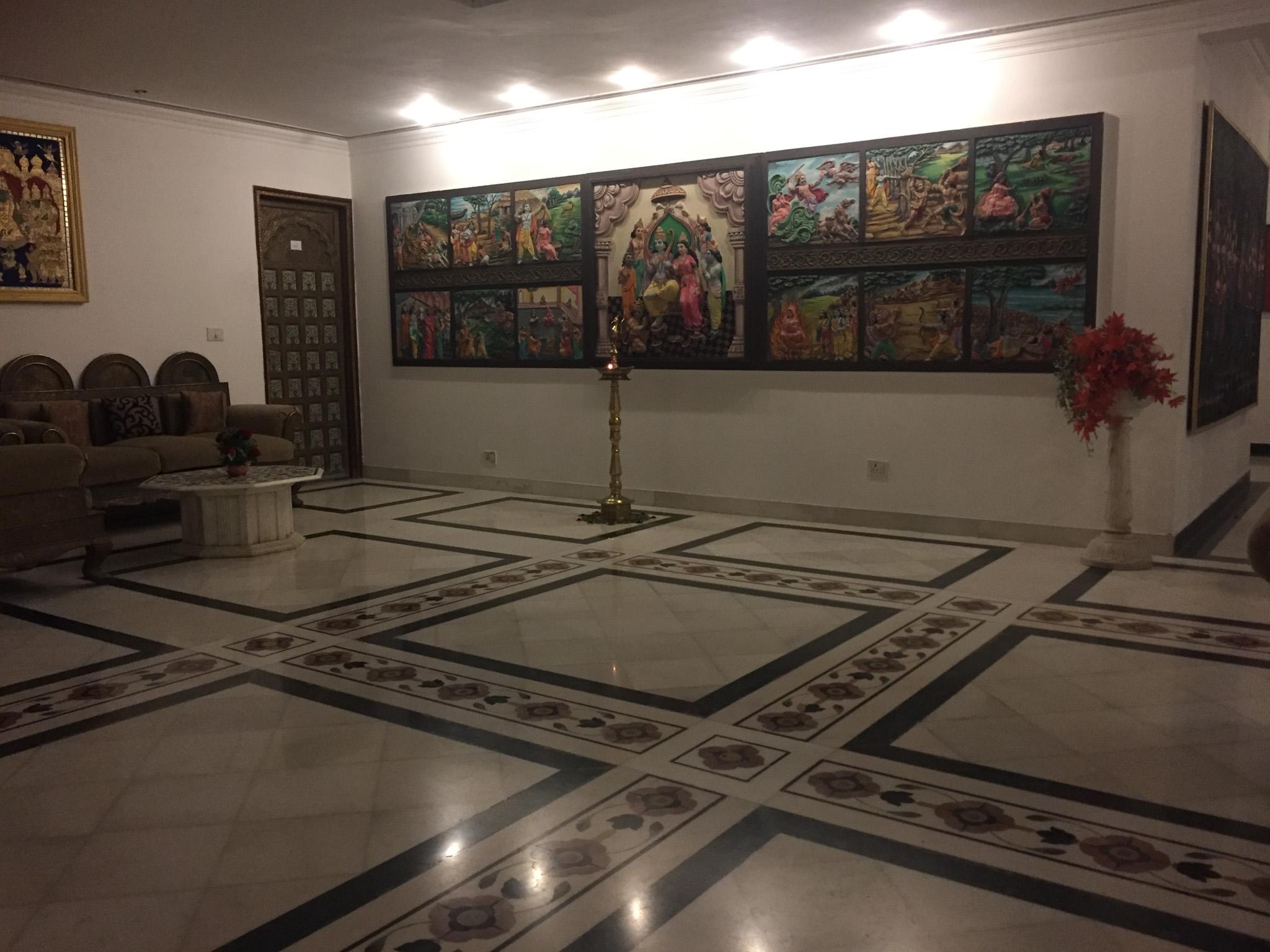 an der Wand die eine Geschichte über Gott Rama